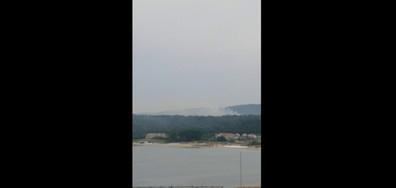 Горски пожар след лятна буря