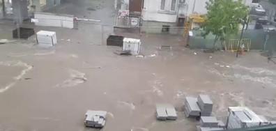 Летен дъжд в центъра на Стара Загора