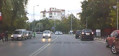 Минаване с бясна скорост през пешеходна пътека