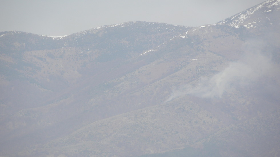 Пожар гори в Рила