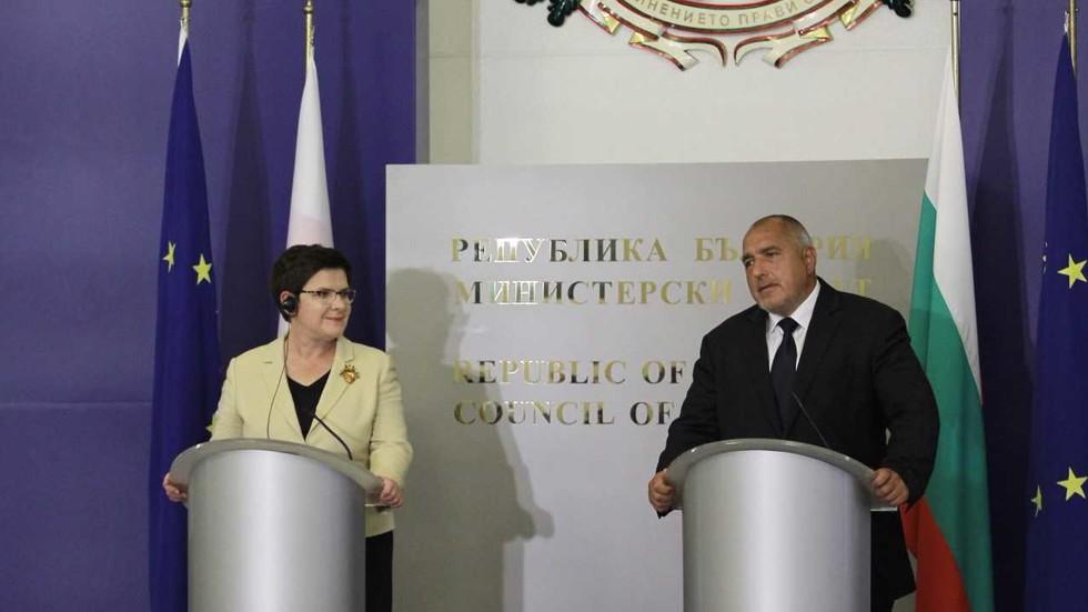Бойко Борисов се срещна с полския си колега Беата Шидло