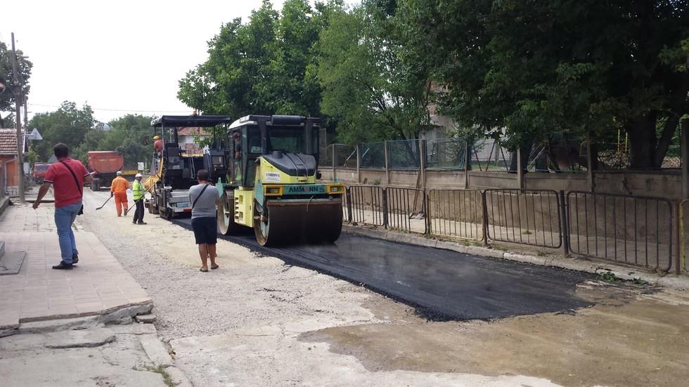 Започна асфалтирането на улиците в Мизия