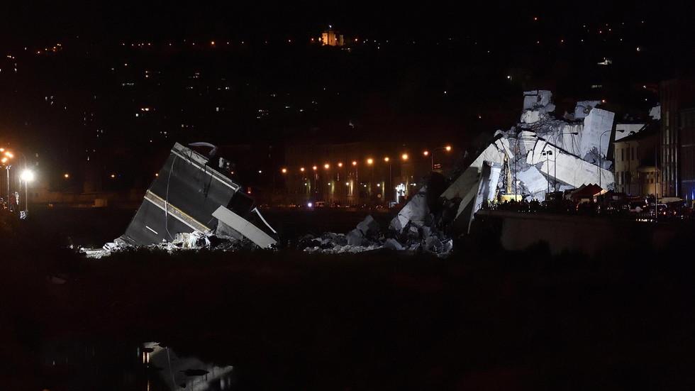Спасителната операция в Генуа - търсят хора под отломките на моста