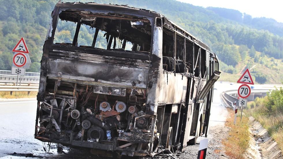 """Автобус изгоря на АМ """"Люлин"""""""
