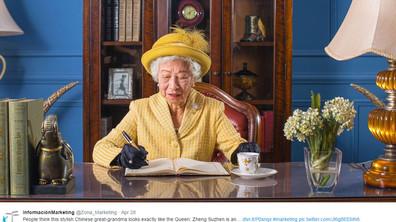 Китайка доби популярност с приликата си с британската кралица