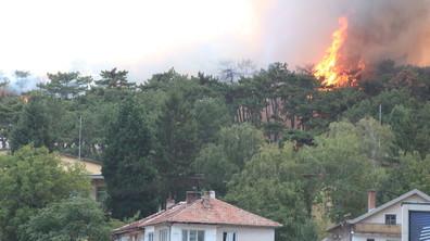 """Огромен пожар близо до стадион """"Берое"""" в Стара Загора"""