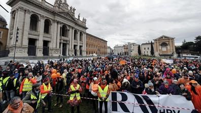 Митинги и протести в Италия