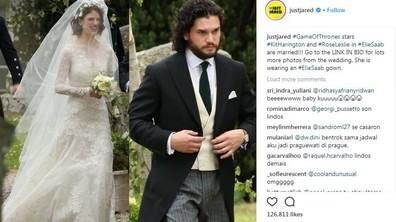 """Кит Харингтън и Роуз Лесли си казаха """"Да"""" на кралска церемония"""