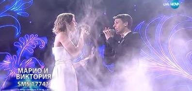 Марио Николов и Виктория Анелова - Vivo Per Lei - X Factor Live